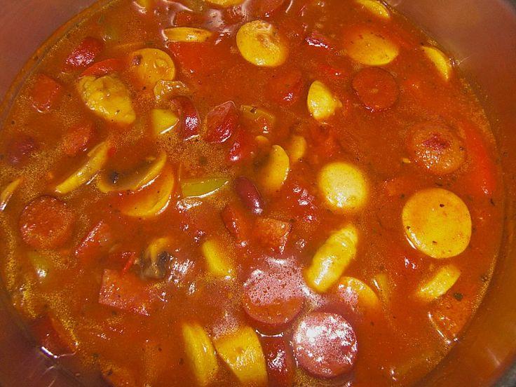 Currywurstsuppe (Rezept mit Bild) von Princess75   Chefkoch.de