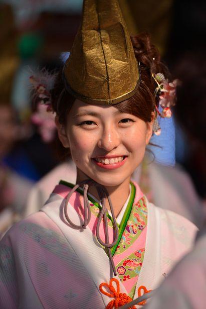 Fukumusume - Happiness girl, Imamiya Ebisu Shrine, Osaka, Japan