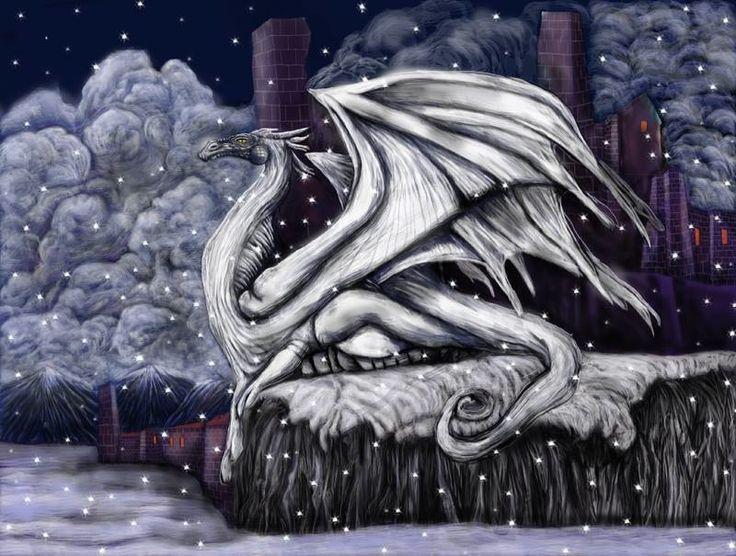 """Fabio Larcher, """"Drago d'inverno"""", 2015, arte digitale."""