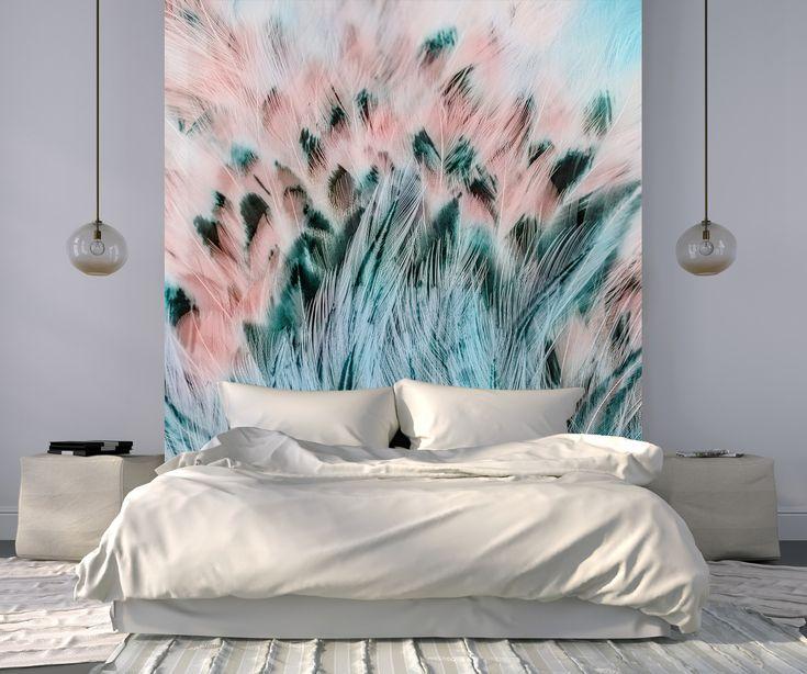 Les 25 meilleures id es concernant papier peint de plume - Papier peint pour tete de lit ...