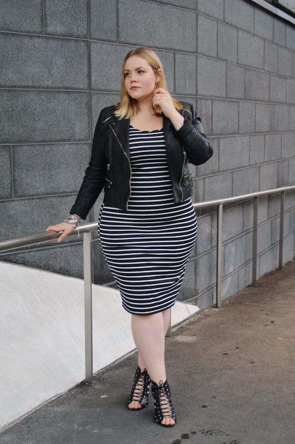 Curvy Style Inspiration A touch of modern edge for a night out. | Outfit Ideas Curvy Style ...