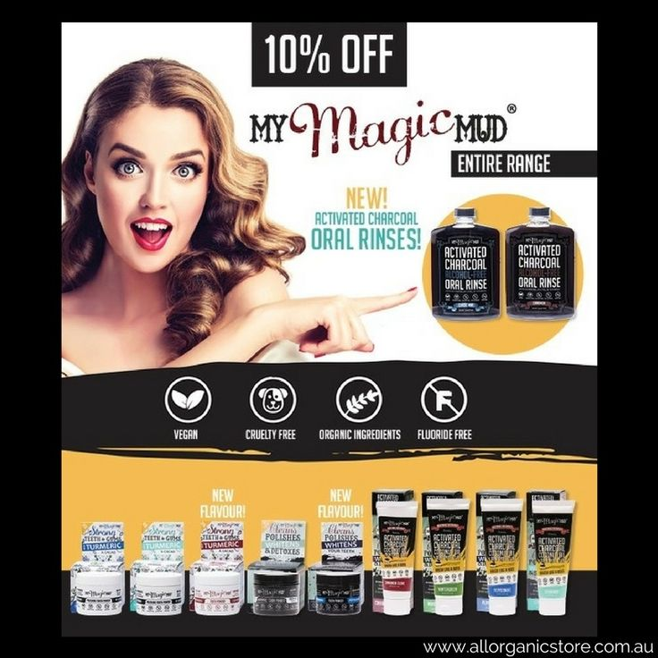 Tried My Magic Mud yet?  Amazing range of Activated Charcoal Teeth Whitening products.