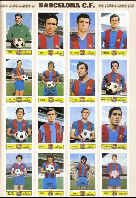 El FC Barcelona campeón de 1973-74, con el Barçargentino 'Cuchi' Cos. El exjugador de Belgrano de Córdoba fue suplente de Johan Cruyff, el último fichaje del club esa temporada.