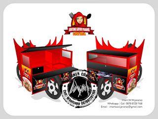 Desain Logo | Logo Kuliner |  Desain Gerobak | Jasa Desain dan Produksi Gerobak | Branding: Desain Gerobak Motor Lontong Sayur Padang
