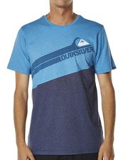 QUIKSILVER ANGLE GRINDER TEE - NAVY HEATHER on http://www.surfstitch.com