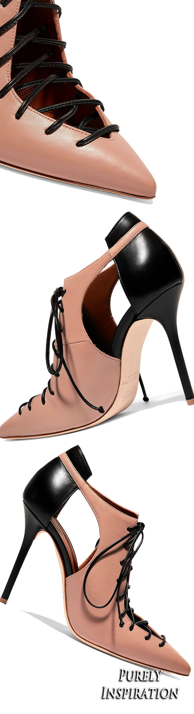 Malone Souliers Montana cutout leather pumps | Purely Inspiration