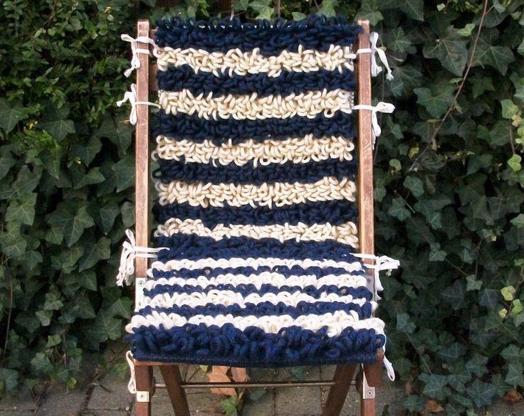 Stuhlauflagen - handgewebte Auflagen, Klappstuhl wird Klappsessel - ein Designerstück von WildeWebe bei DaWanda