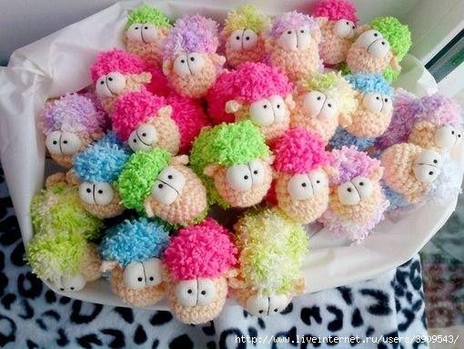 Colorful little sheep