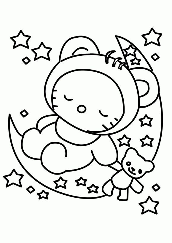 Hello Kitty Malvorlagen A3 | My blog