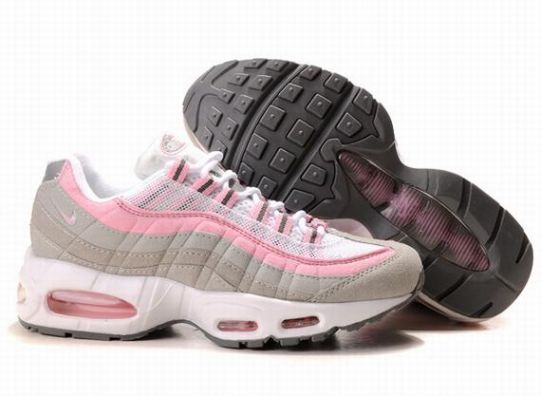 Cheap Nike Air Max 95 Womens Running Shoes White Pink Grey UK Sale