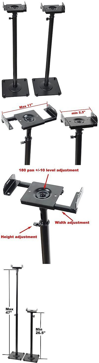 Speaker Mounts and Stands: Videosecu 2 Heavy Duty Pa Dj Club Adjustable Height Satellite Speaker Stand M... -> BUY IT NOW ONLY: $52.69 on eBay!