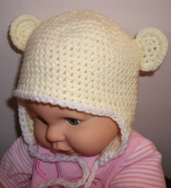 Baby Beanie with Earflaps and Ears