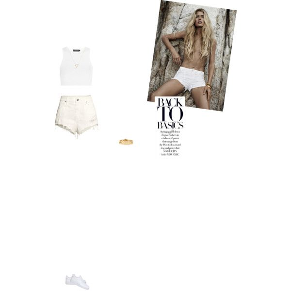 Bez tytułu #106 by izabelmaz on Polyvore featuring moda, Calvin Klein Collection, H&M, NIKE, Tiffany & Co. and Wanderlust + Co