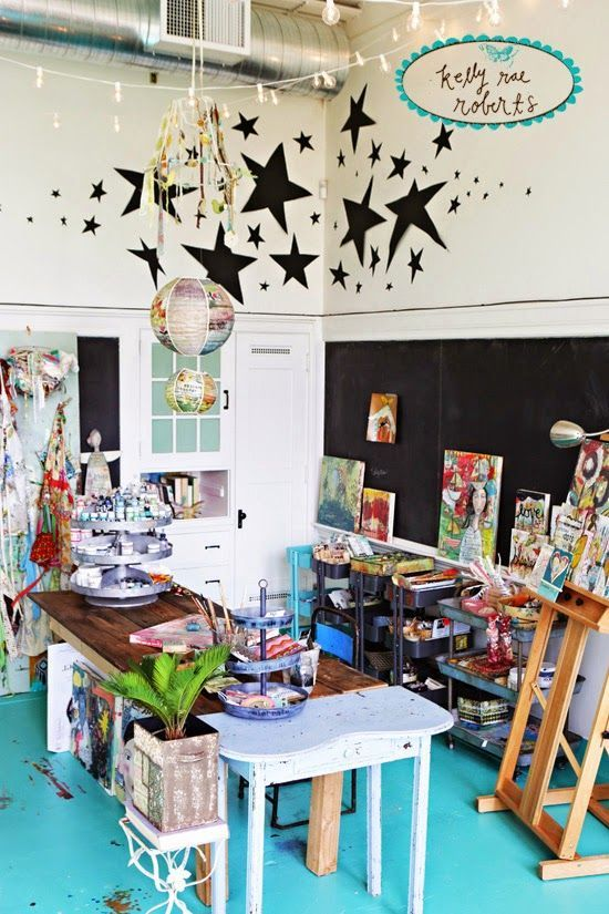 10 Inspirational Art Studios - Carmen Whitehead Designs
