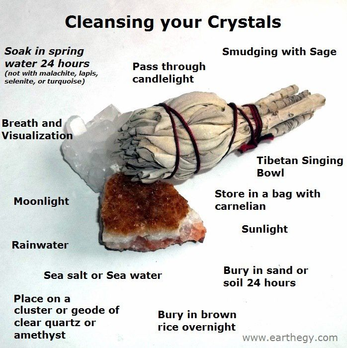 Diff Ways of Cleansing *to research as every stone/crystal has unique properties to protect