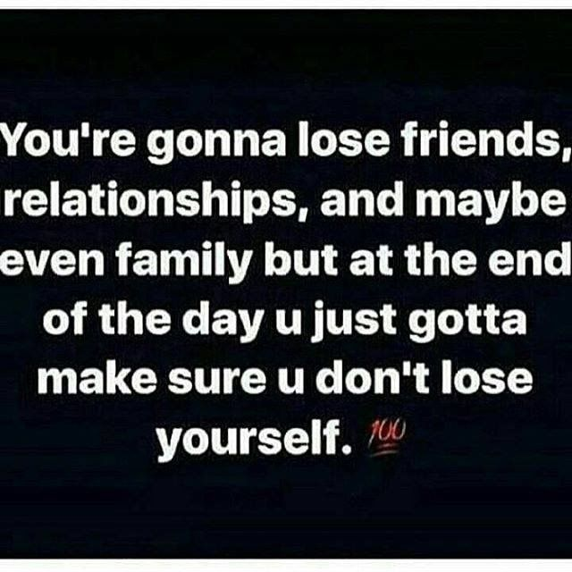 It always hurts loosing someone that you love but there are always new people coming in and out of your life. If the person was meant to stay in your life they would. Everything happens for a reason you can't lose yourself too in the mess of everything.