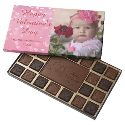 Pink Hearts Valentine's Day Photo 45 Piece Box Of Chocolates - pink gifts style ideas cyo unique
