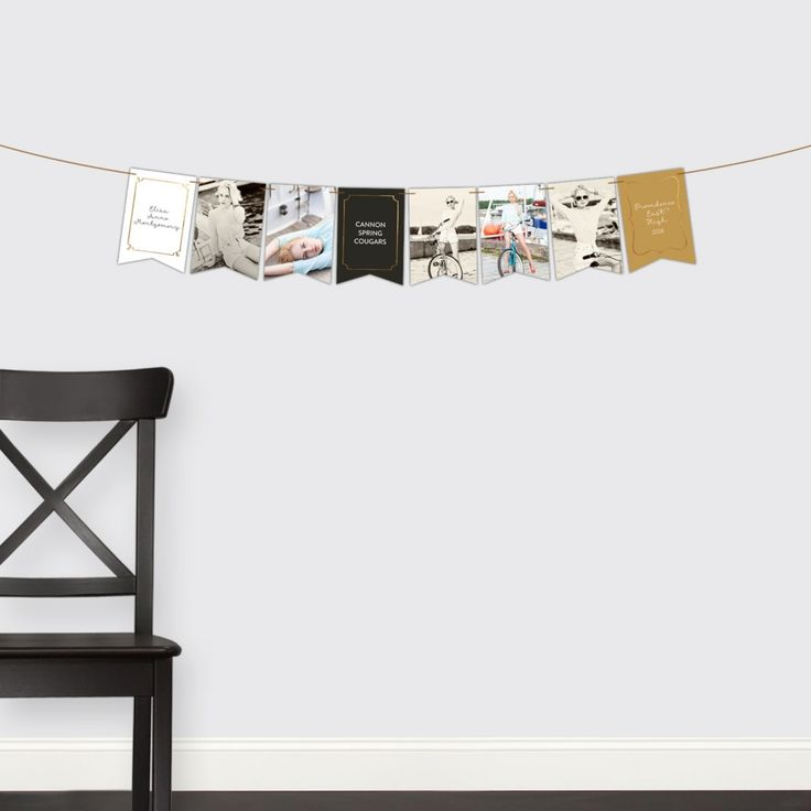 Graduation Party Decorations -- Faux-Foil Frames Banner | Pear Tree Greetings