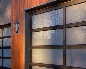 sustainable prefab contemporary wood warm modular clean minimal garrage doors - modern - garage and shed - portland - Stillwater Dwellings