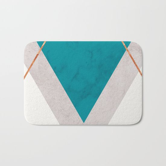 TEAL COPPER AND BLUSH GEOMETRIC Bath Mat By xiari on @society6. TEAL, COPPER, GOLD, BLUSH, PINK, GREEN, BLUE, TRIANGLES, GEOMETRIC, GEOMETRY, CIRCLES, DOTS, SCANDINAVIAN DESIGN, SCANDINAVIAN PRINT, GOLDEN, MODERN, MINIMALISM, MINIMALIST, SHAPES, LINES, SOCIETY6, INTERIOR DESIGN, HOME DECOR, WALL ART, TAPESTRIES