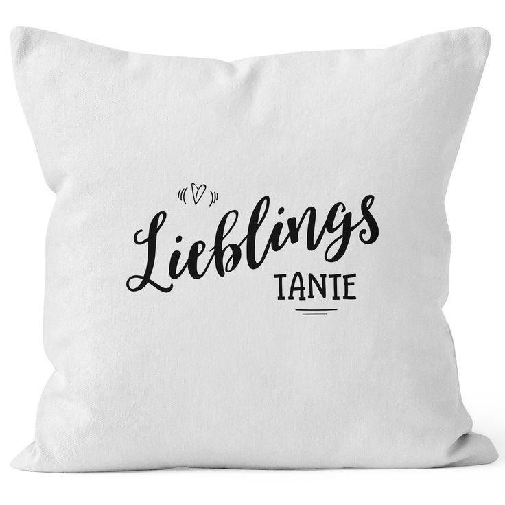 Kissenbezug Lieblingstante Geschenk Familie Tante Kissen-Hülle Deko-Kissen 40x40 Baumwolle MoonWorks®