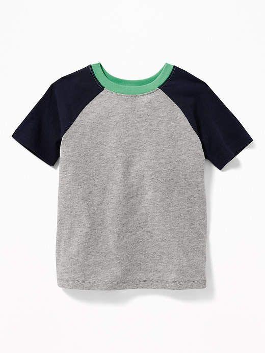 Raglan-Sleeve Color-Block Tee for Toddler Boys  eadec4110