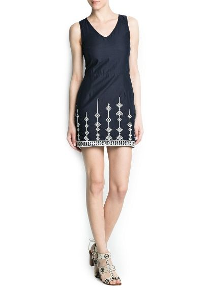 Cotton embroidered dress, i love the details!