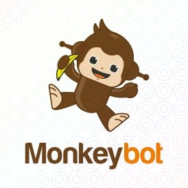 Monkeybot logo  (This logo is ideal for a internet, game, creative services, entertainment and art company, and any related businesses).