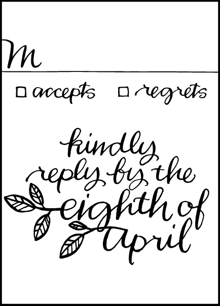 Letterpress Wedding Reply cards | Balsam Calligraphy Design | Bella Figura Letterpress