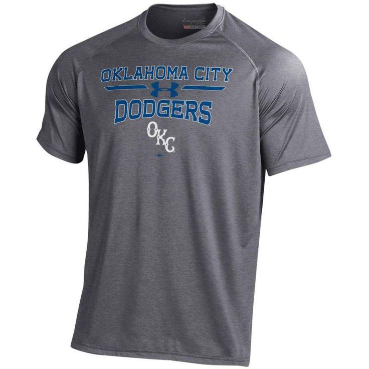 Under Armour Men's Oklahoma City Dodgers Grey Tech Performance T-Shirt, Size: Medium, Multi