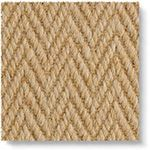 Wool Herringbone Zig Zag Natural