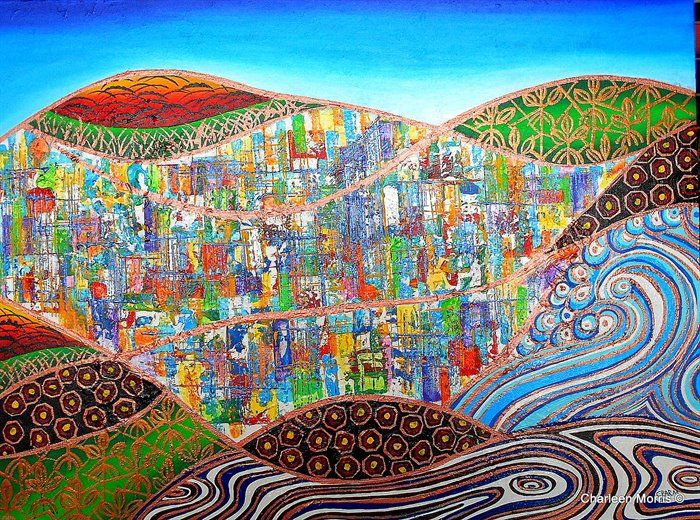 Ebb and flow of the City - Van Art... by Charleen Morris