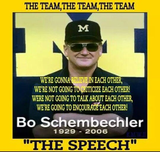 The great Bo Schembechler.