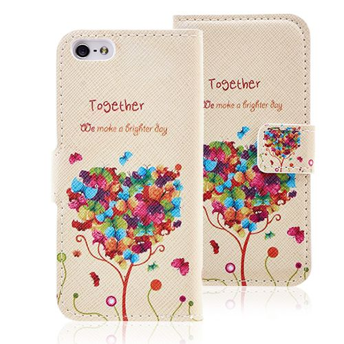 Lovely Heart Shape Romantic Leather iPhone 5 5S #iphone5 #romantic #leather #case #covers #lovely #cellz #fashion