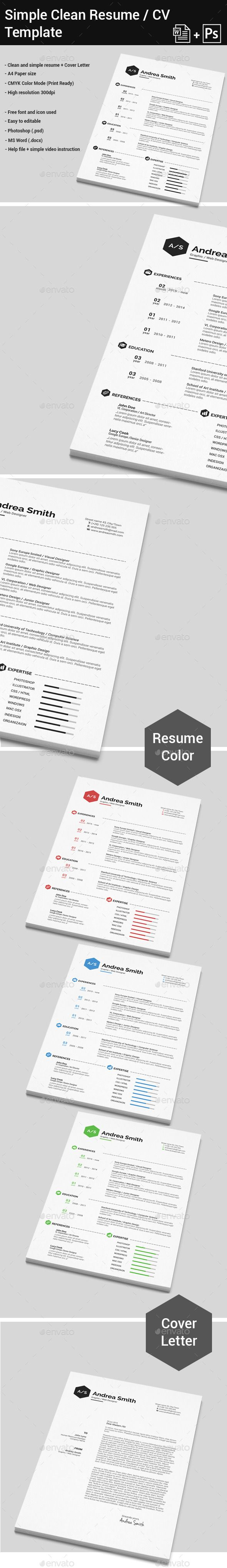 simple clean resume cover letter - Simple Resume Cover Letter Template