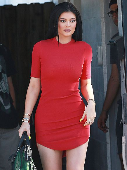 Kylie Jenner In A Red H&M Dress