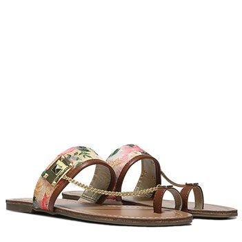 2017 Retro G BY GUESS Lucia 2 Sandal CoralFloral Print