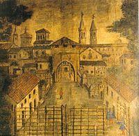 """Porta Celletta. Lungo il corso principale, via Tiglio, vennero costruite due porte: ad ovest, del Molino e, ad est, Celletta. Presso ciascuna porta venne edificata una chiesa. Quella del Molino era a protezione dalle pestilenze, mentre la chiesa presso Porta Celletta aveva lo scopo di preservare la comunità dalle inondazioni del fiume Santerno e sulle cui rovine fu costrita la chiesa di San Salvatore. Nel 1630, nel corso della """"peste manzoniana"""" fu innalzato il il cancello per impedire…"""