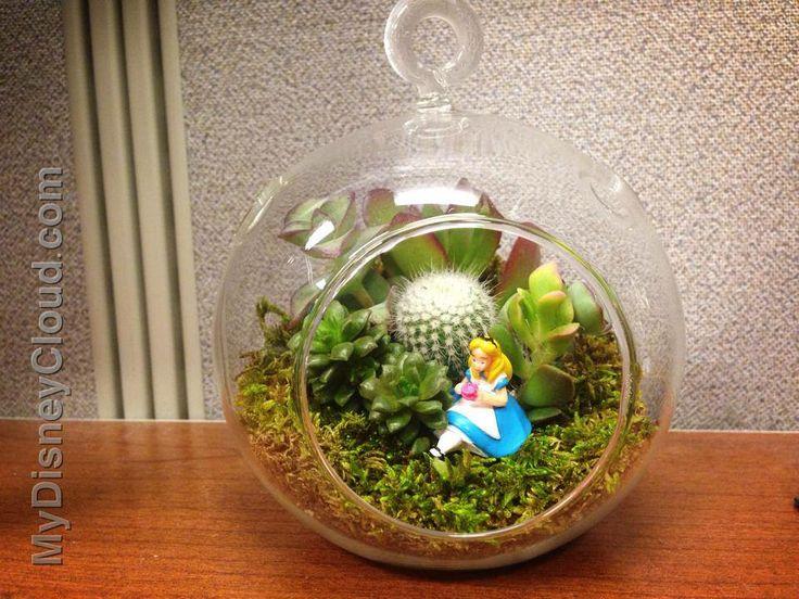 Take A Terrarium And Place The Disney Collection Miniature Figure Inside Voila A Nice Disney