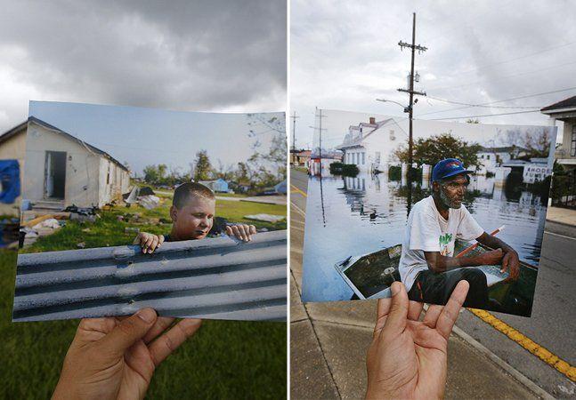 """Há exatos 10 anos, a cidade norte-americana de New Orleans foi cenário de uma das maiores catástrofes dos últimos tempos: o furacão Katrina. As inundações provocadaspelo fenômeno mataram mais de 1.500 pessoas,fizeram com que mais de 1,5 milhão de pessoas deixassem suas casas e causaramcercade US$ 81bilhões deprejuízo material. Toda essa destruição foi captada, na época, pelo fotógrafo Carlos Barria, que recentemente voltou à cidade para mostrar o que mudou em uma década. """"A ideia era…"""
