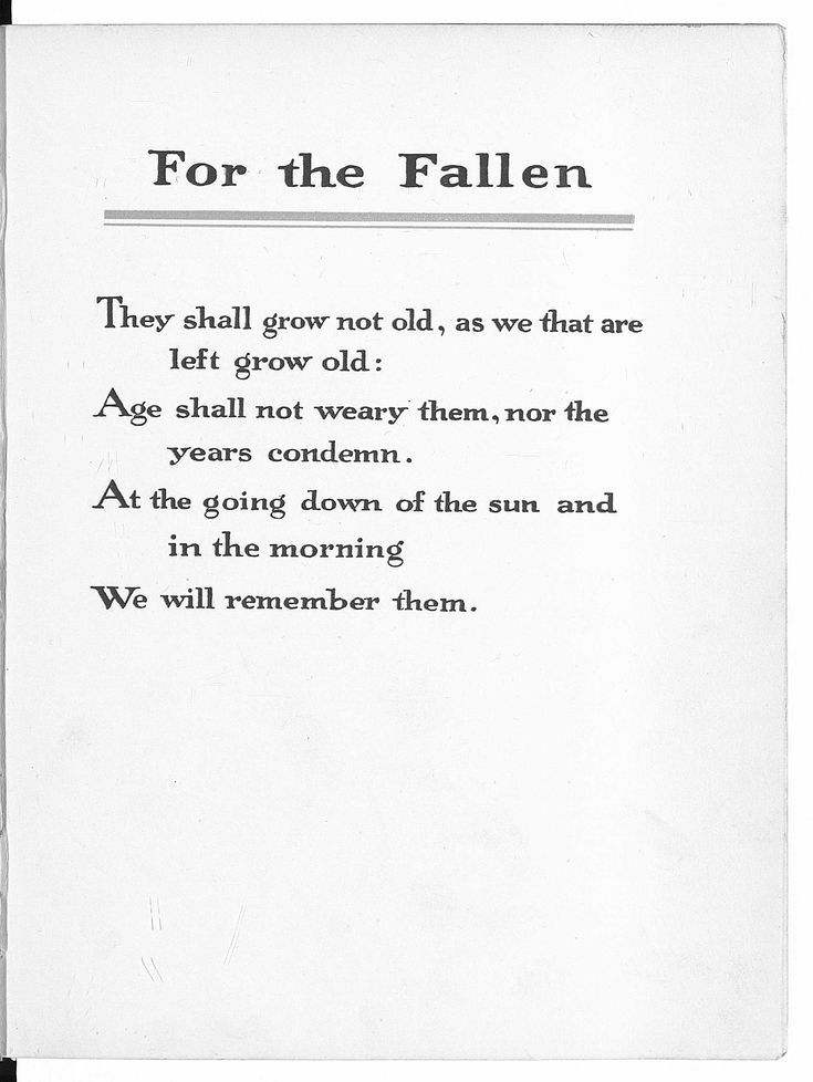 First published in The Times in September 1914, the poem honoured the World War I British war dead of that time, and in particular the British Expeditionary Force, which by then already had high casualty rates on the developing Western Front.