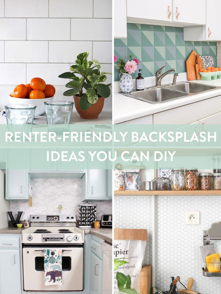 Removable backsplash ideas for renters. There are lots of ...