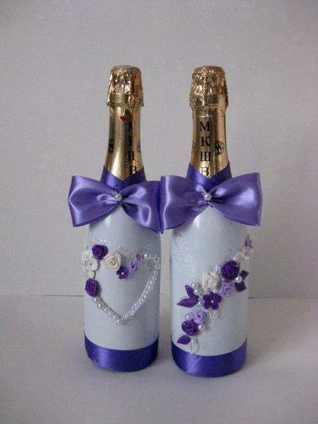 17 best images about botellas decoradas de boda on pinterest principal white weddings and bottle - Botellas de cristal decoradas ...