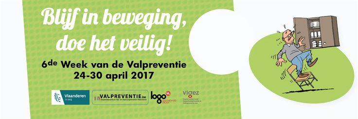 Van 24 t.e.m. 30 april 2017 is het de week van de valpreventie.  In beweging blijven is belangrijk maar doe het veilig!