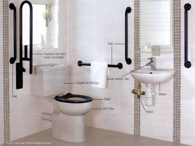 Bathroom and tips on pinterest for Bathroom designs elderly
