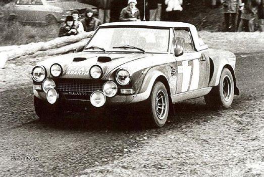 Markku Alén - Ilkka Kivimäki Rallye Monte-Carlo 1976. Fiat Abarth 124 Rally. Clasificado 6º
