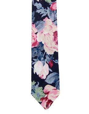 cravatta con stampa a fiori grandi