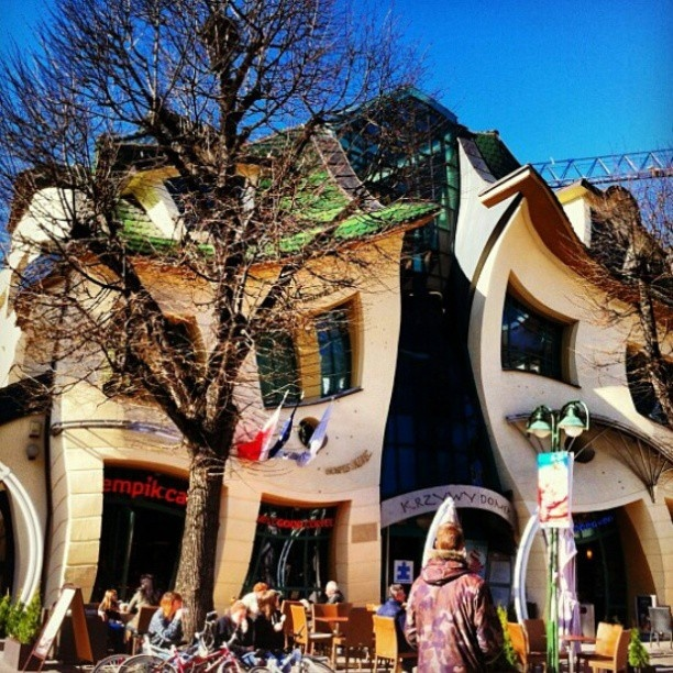 Not a Photoshop trick. Crooked house in #Sopot, #Poland. Image by @Eryn Paul Lackie. #lonelyplanet #travel