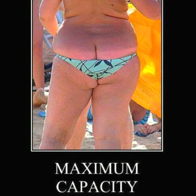 Maximum Capacity... why don't her friends say something? :/