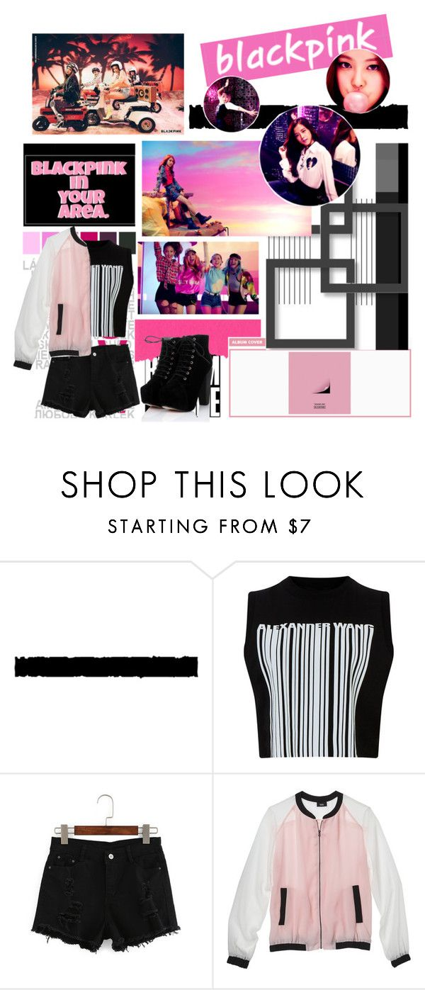 """BLACKPINK Boombayah"" by ninaxo17 on Polyvore featuring Tim Holtz, Alexander Wang, Mossimo, kpop, yg, BlackPink and boombayah"